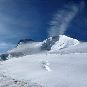 I pendii terminali del ghiacciaio dell'Ortles