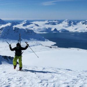KroneorinsOlavs Fjellet, cima nord - felicità in vetta