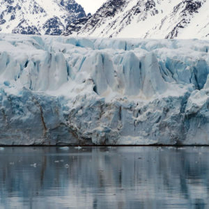 Il Kronebreen e molte altre lingue glaciali fanno da corona per kilometri nel Kongsfjorden