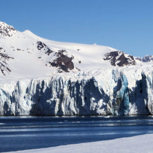 L'impressionante fronte glaciale del Lilliehookbreen