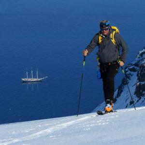 Il Rembrandt, il blu, lo scialpinismo al MagdaleneFjorden
