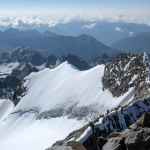 La cresta del Piz Bernina, via normale