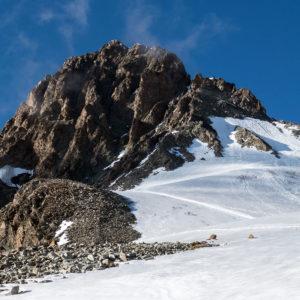 La Spedla del Piz Bernina dal rifugio Marco e Rosa