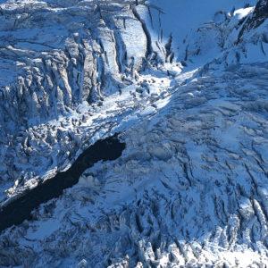Caos glaciale nel Labirynth, un vero dedalo di crepacci, abissi e ponti di neve