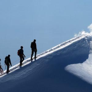 Estetica cresta sul Piz Bernina