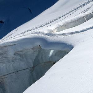 Quando si dice ponte di neve! Ghiacciaio del Morteratsch